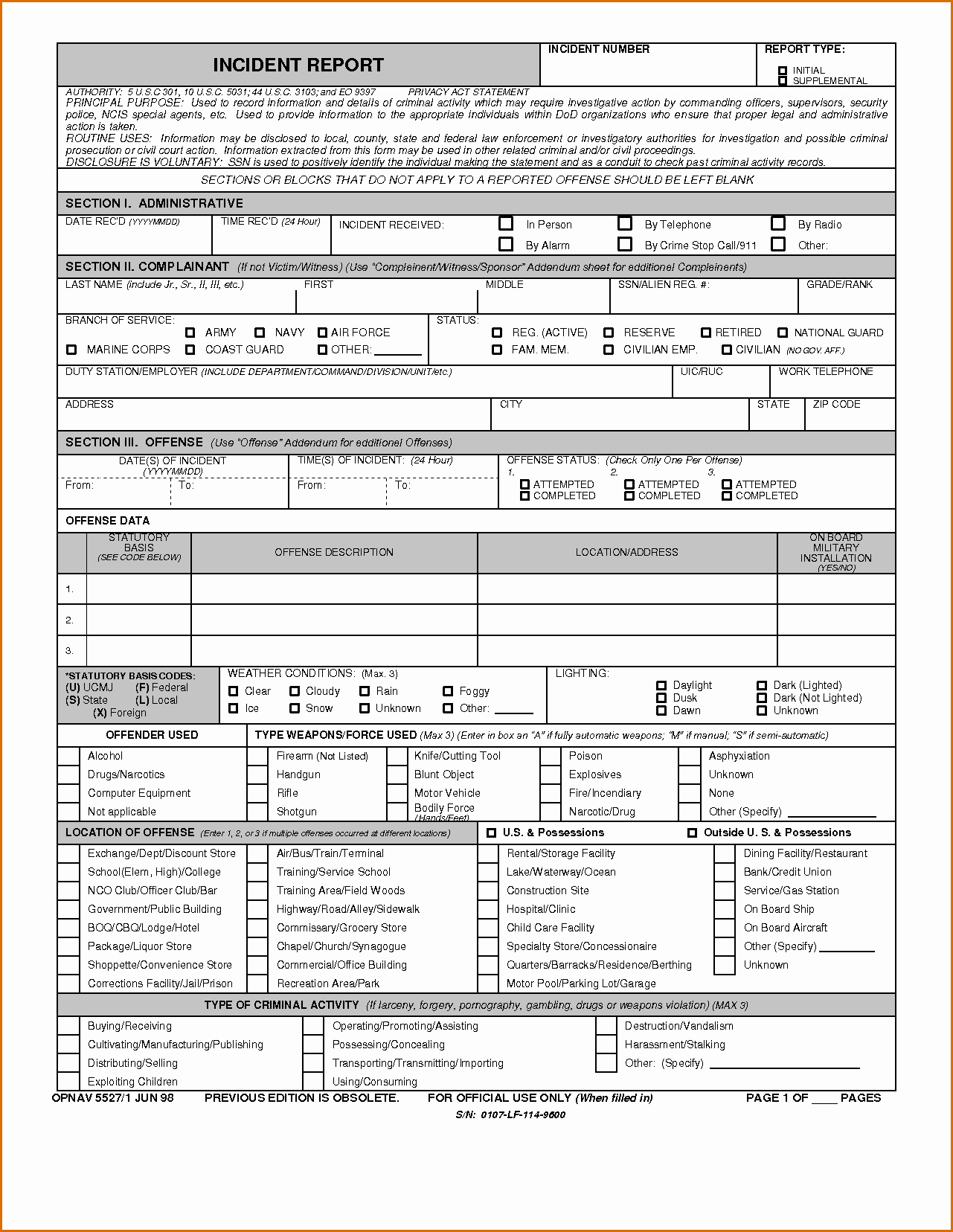 Blank Police Report Template Awesome 8 Blank Police Report