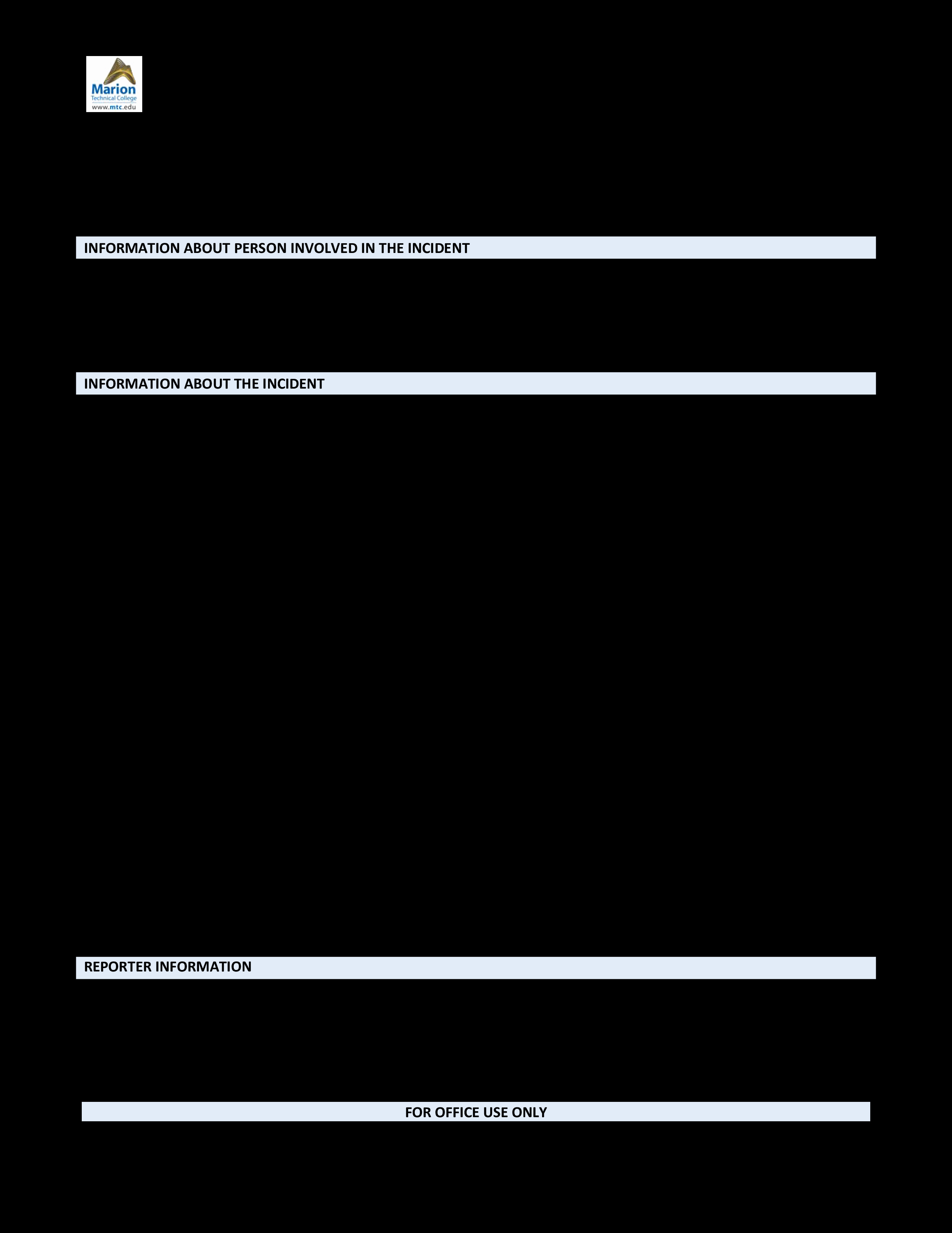 Blank Police Report Template Beautiful Free Blank Police Report
