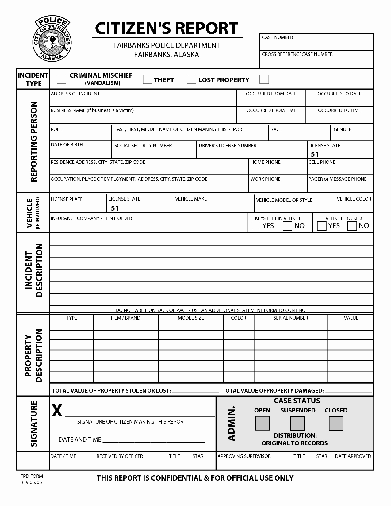 Blank Police Report Template Best Of Best S Of Police Report Pdf Sample Police Report