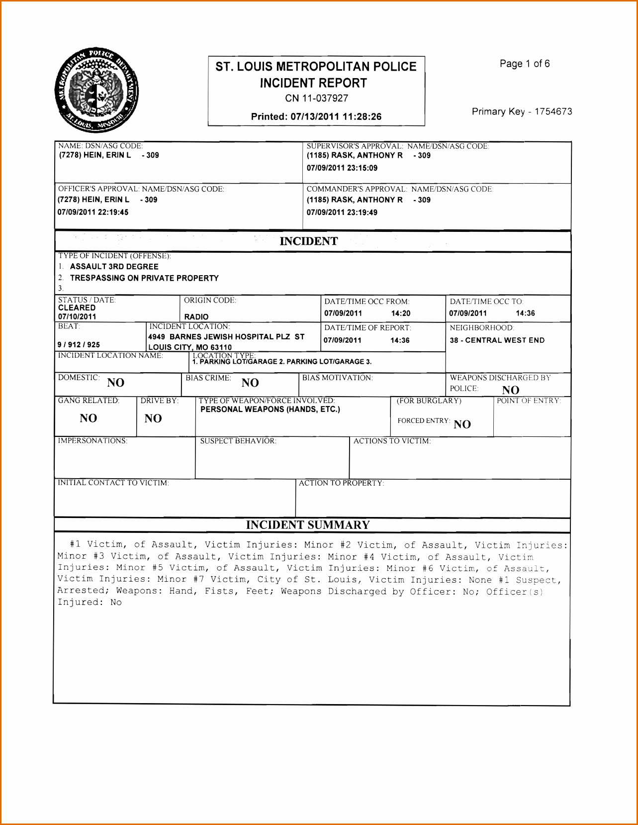 Blank Police Report Template Fresh 8 Blank Police Report