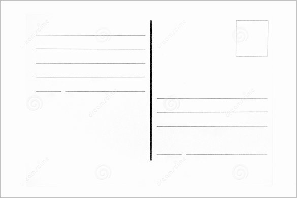 Blank Postcard Template Awesome Postcard Template 47 Free Printable Word Excel Pdf