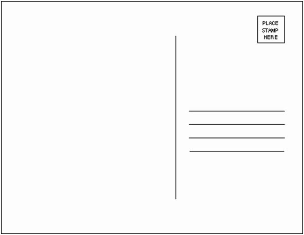 Blank Postcard Template Beautiful Project Postcard Template by thecoven On Deviantart