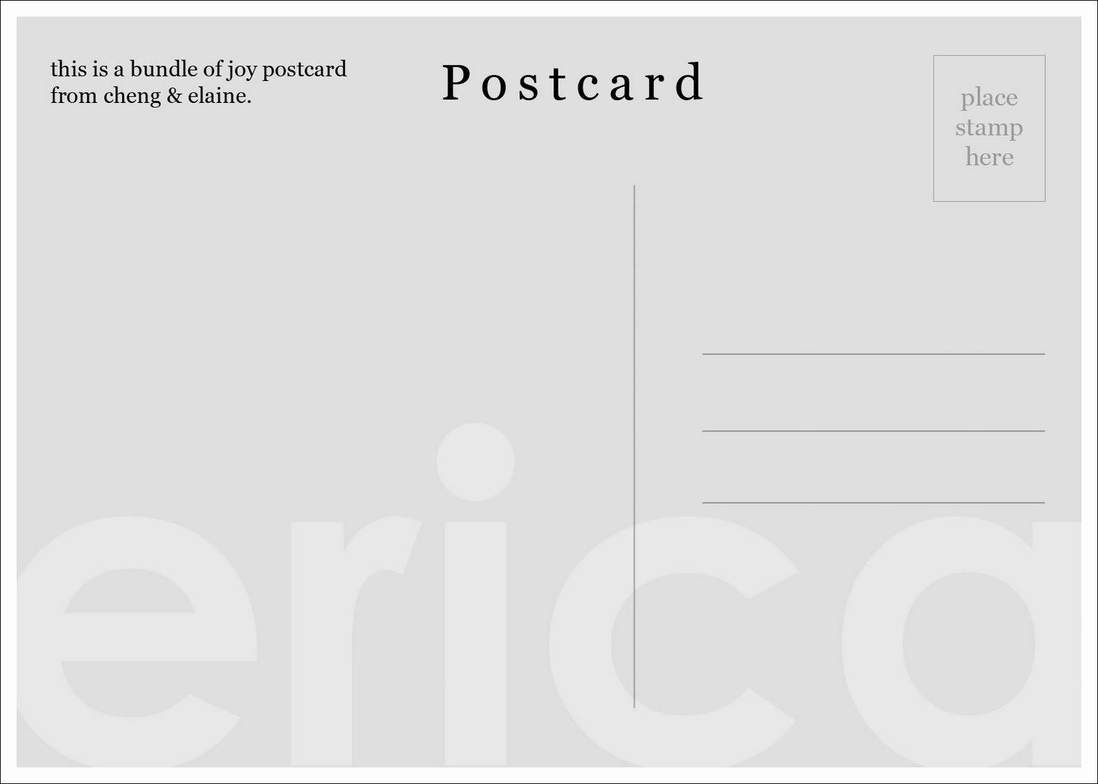Blank Postcard Template Elegant Template 8387