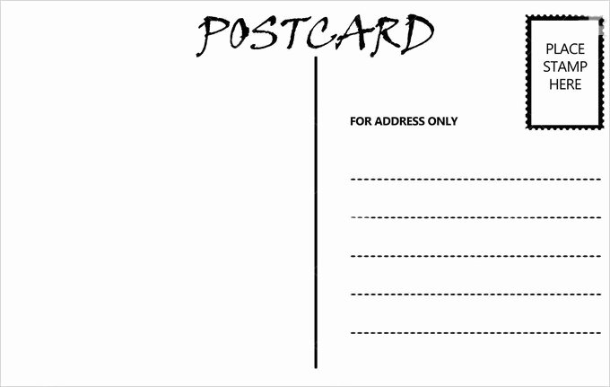 Blank Postcard Template Fresh 34 Blank Postcard Templates Psd Vector Eps Ai