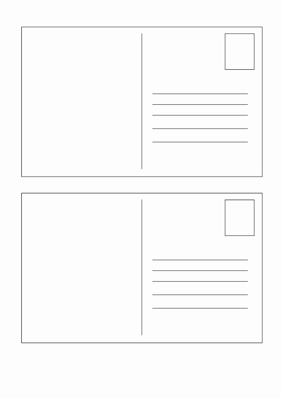 Blank Postcard Template Inspirational 40 Great Postcard Templates & Designs [word Pdf]