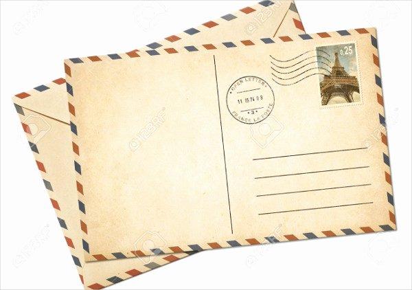 Blank Postcard Template Inspirational 7 Vintage Postcard Templates Free Psd Ai Vector Eps