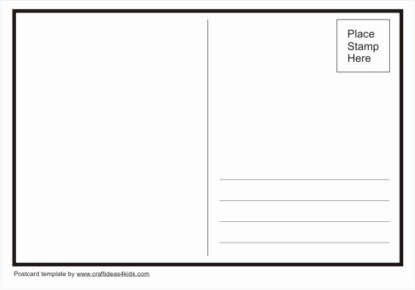 Blank Postcard Template Inspirational Postcard Template – Craft Ideas for Kids