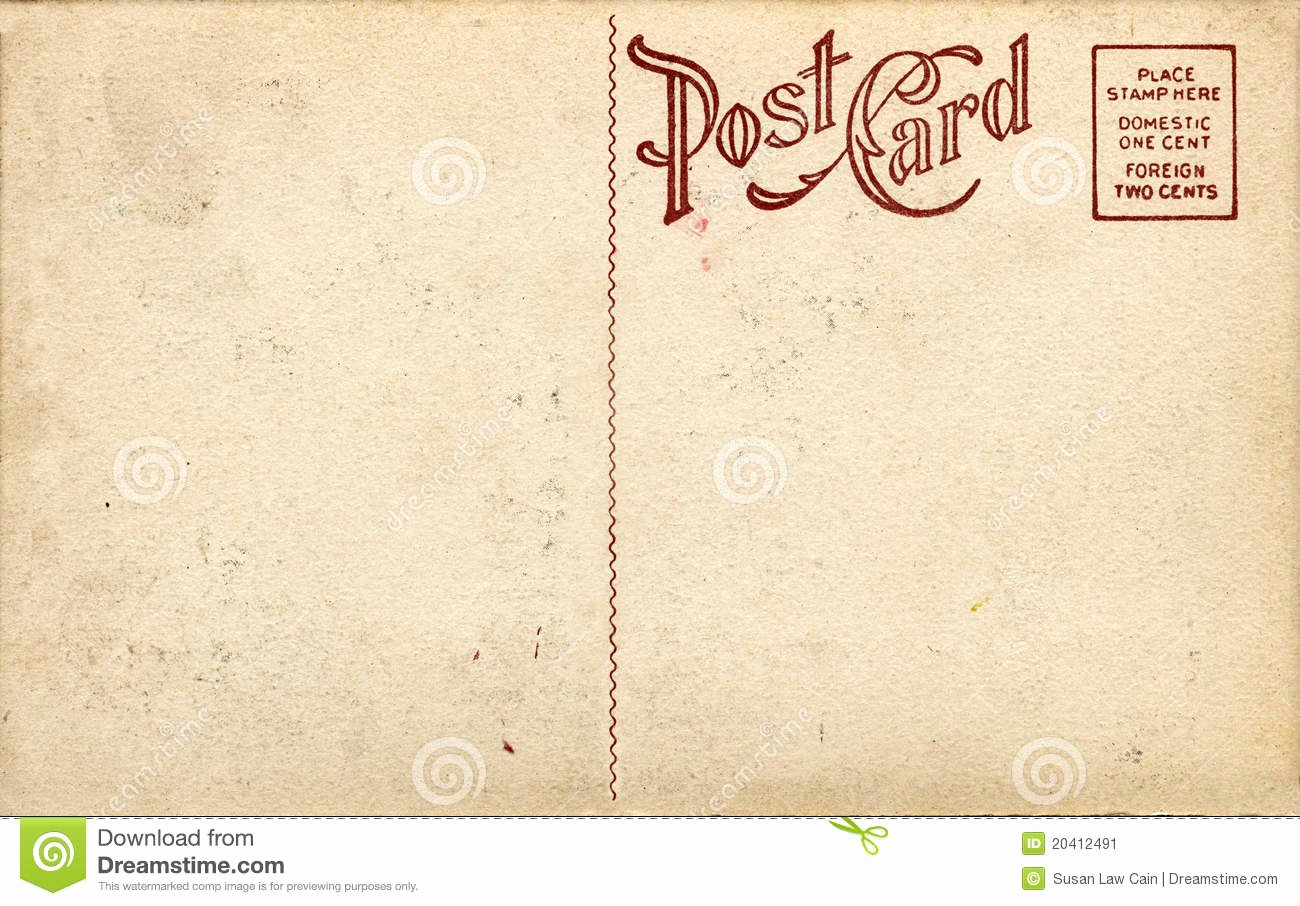 Blank Postcard Template Lovely Old Fashioned Postcard Stock Image Image Of Letters
