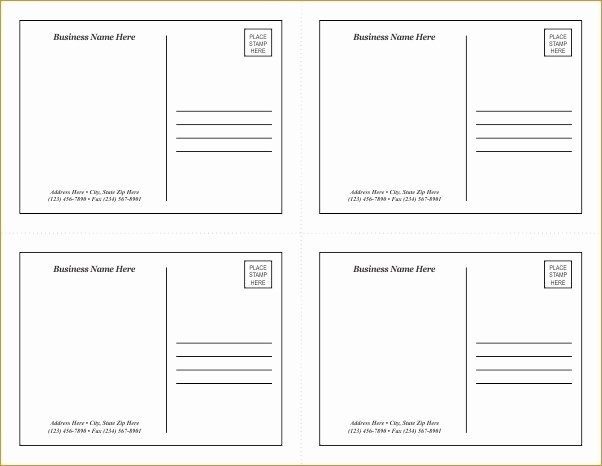 Blank Postcard Template New Avery Postcard Template Dealupapp