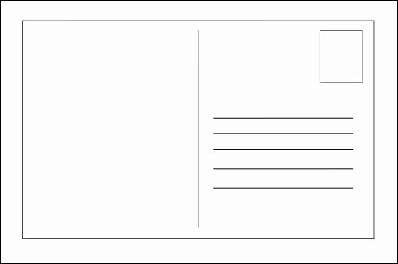Blank Postcard Template Unique 21 Free Postcard Template Word Excel formats