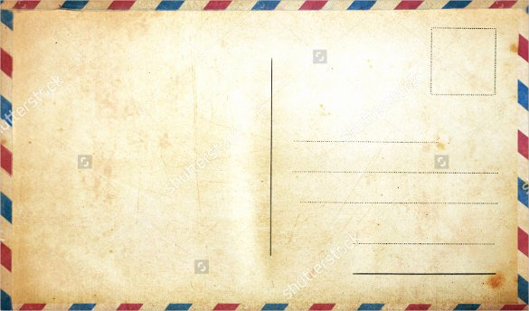 Blank Postcard Template Unique 34 Blank Postcard Templates Psd Vector Eps Ai