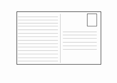 Blank Postcard Template Unique Blank Postcard Template by 4877jessie Teaching Resources