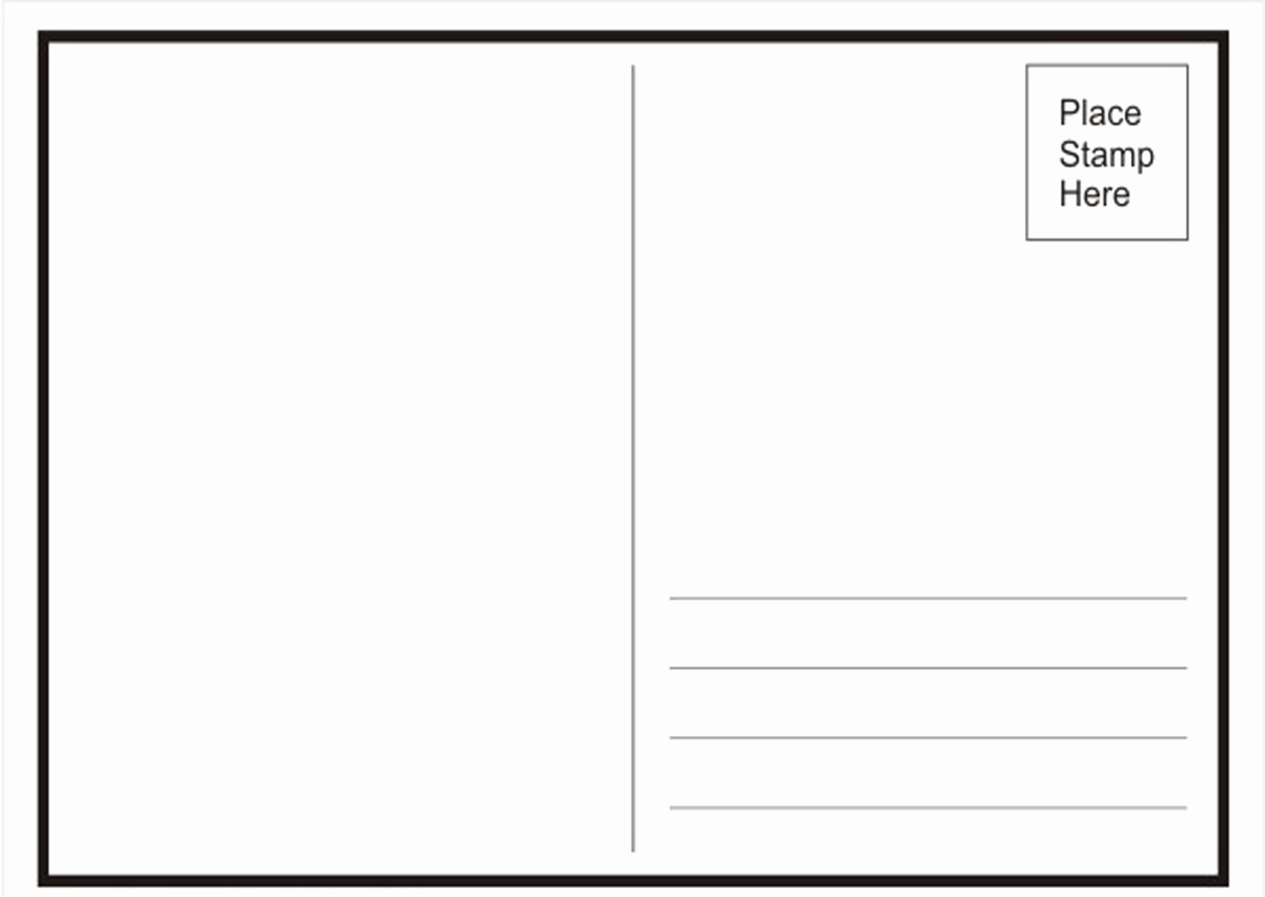 Blank Postcard Template Unique Postcard Concepts