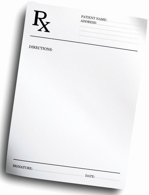 Blank Prescription Pad Template Best Of Prescribe today