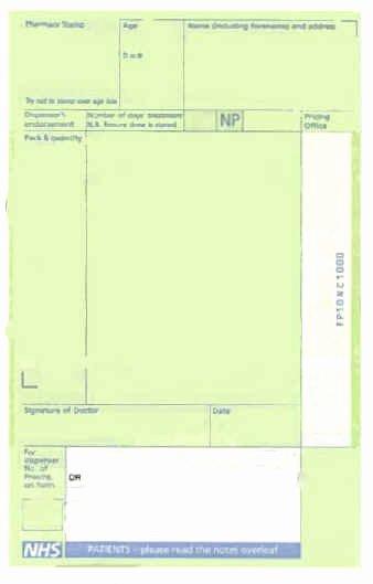 Blank Prescription Pad Template Best Of Prescription Charge Vantage Pharmacy
