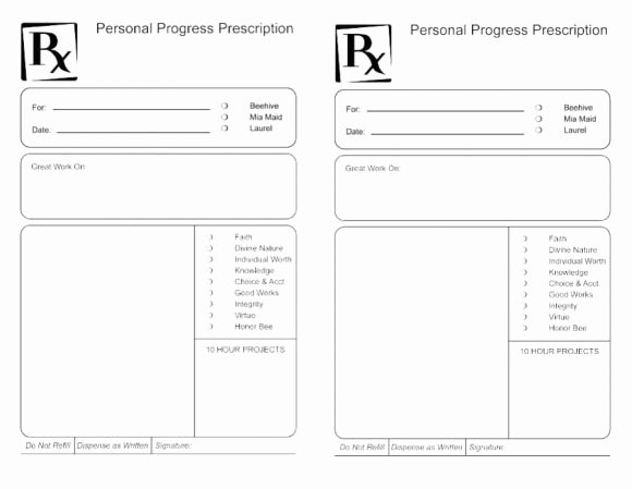 Blank Prescription Pad Template Best Of Prescription Label Template Download