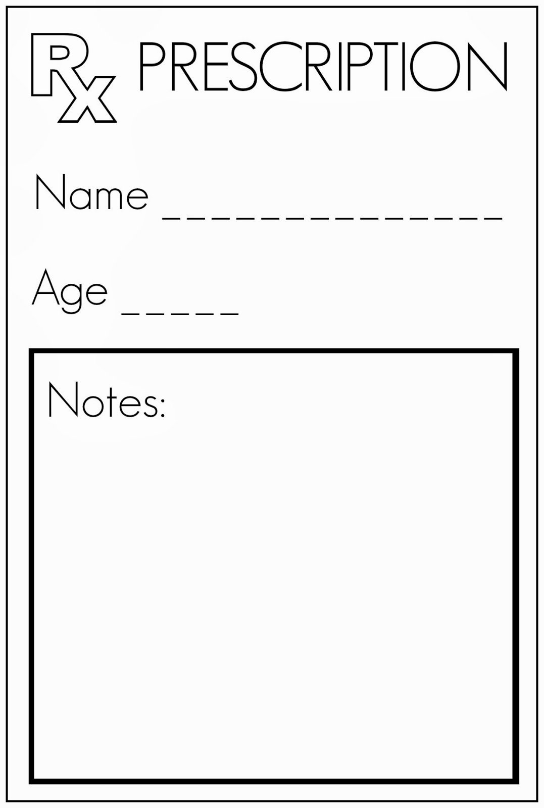 Blank Prescription Pad Template Elegant toddler Approved Let S Play Doctor Felt Pretend Play for