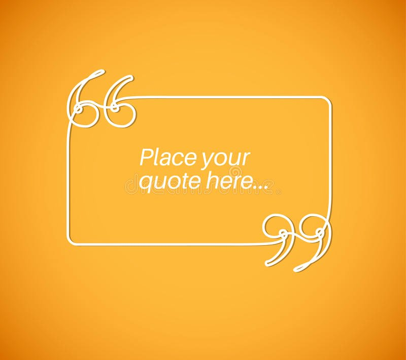 Blank Quote Template Awesome Blank Quote Template Stock Illustration Image