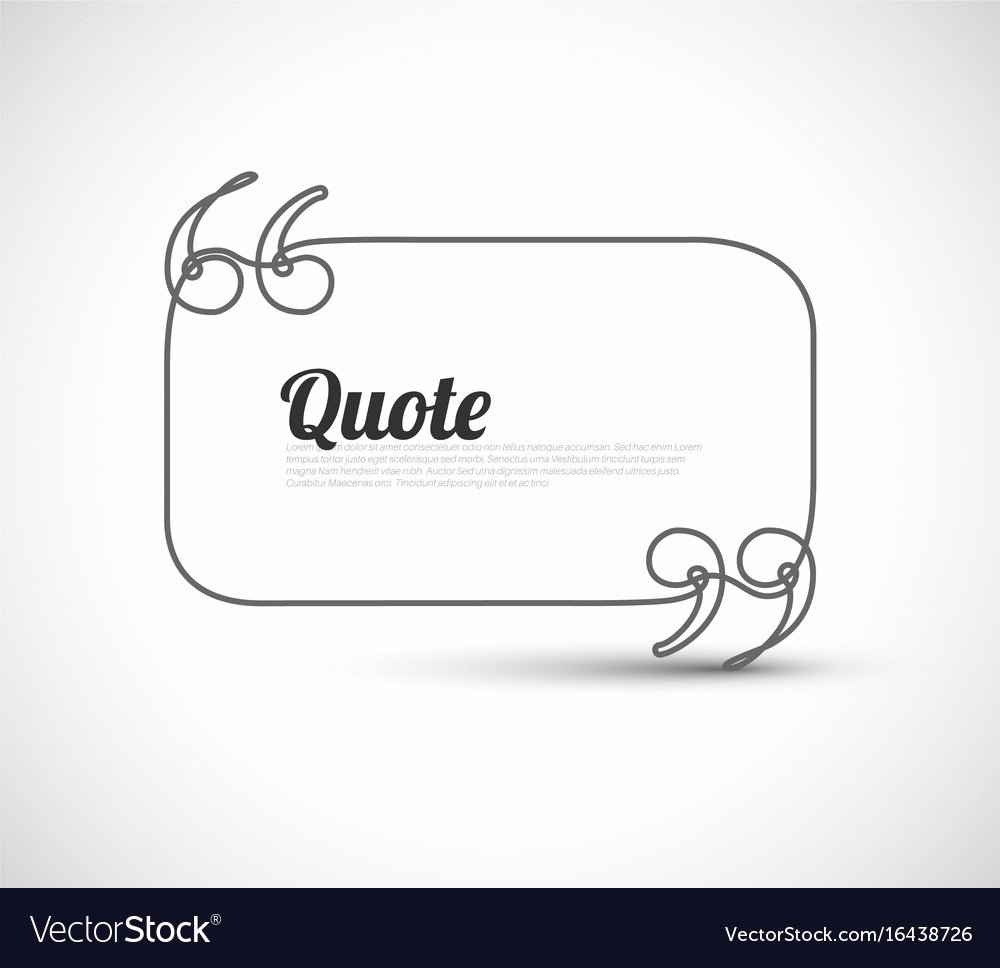 Blank Quote Template New Blank Quote Template Royalty Free Vector Image