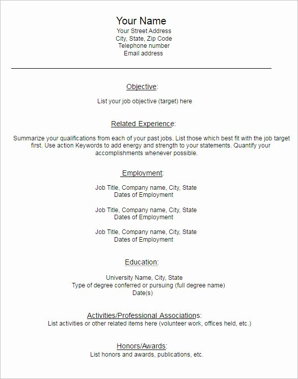 Blank Resume Template Pdf Best Of 22 Blank Resume Templates Free Pdf Word Documents