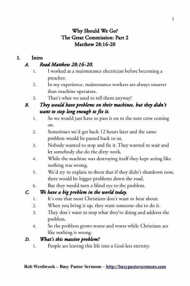 Blank Sermon Outline Template Inspirational Expository Preaching Sermon Outlines