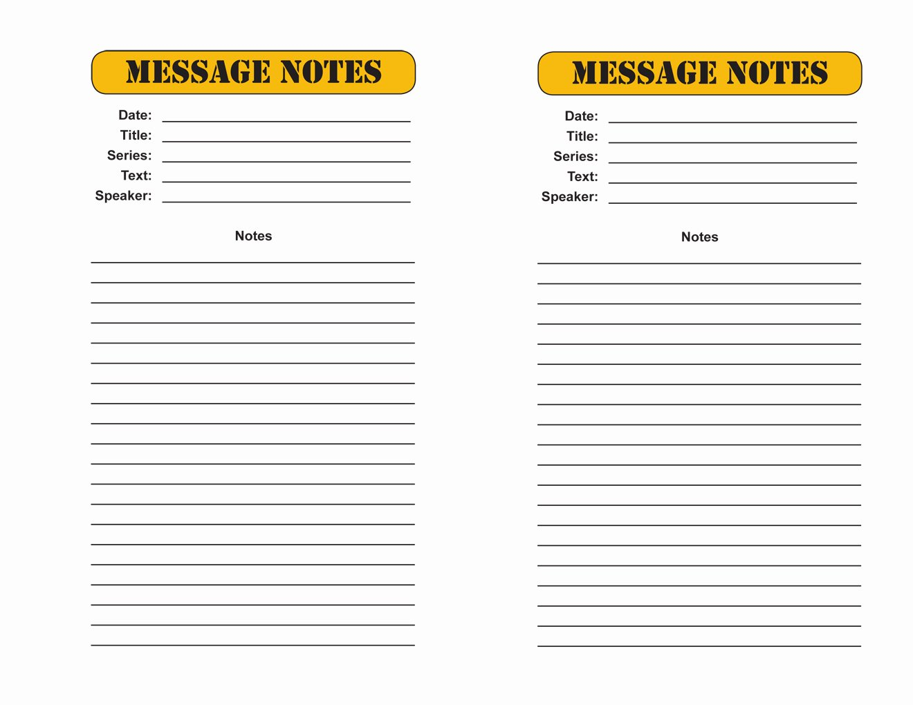 Blank Sermon Outline Template Luxury 22 Of Message Sermon Notes Template