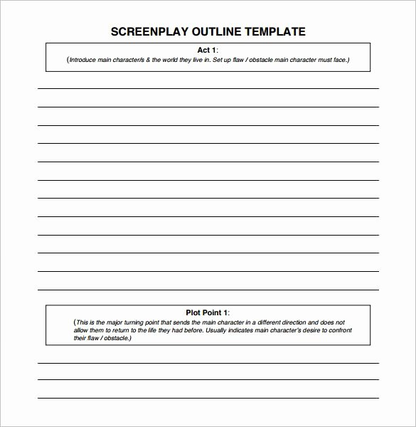 Blank Sermon Outline Template Luxury 7 Screenplay Outline Templates Doc Excel Pdf