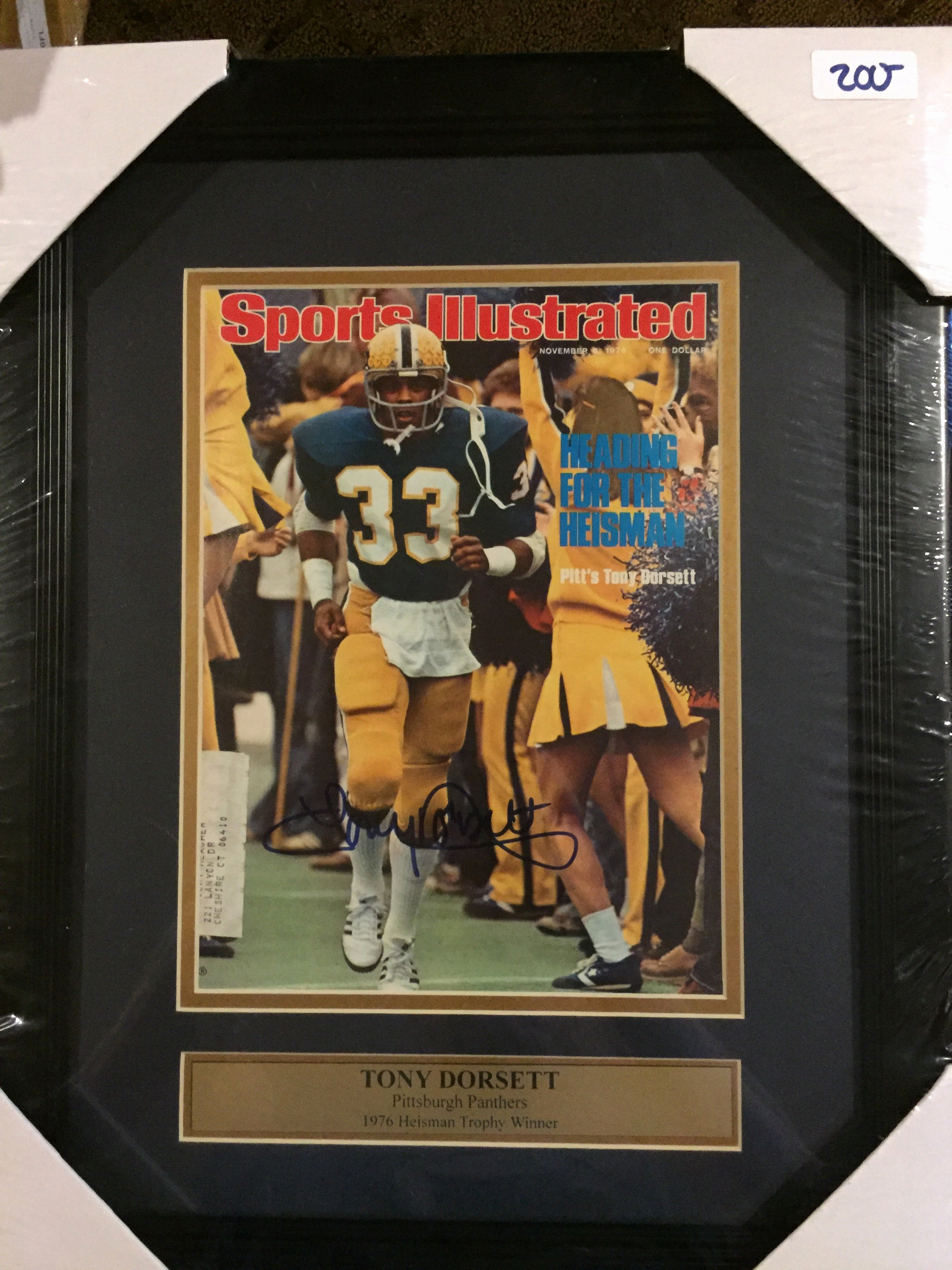 Blank Sports Illustrated Cover Best Of tony Dorsett Autographed 8x10 Framed Pitt Sports