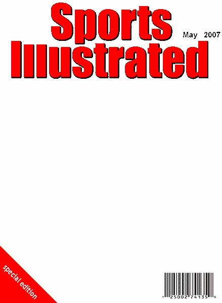 Blank Sports Illustrated Cover Lovely Sports Illustrated Blank Template Google Search