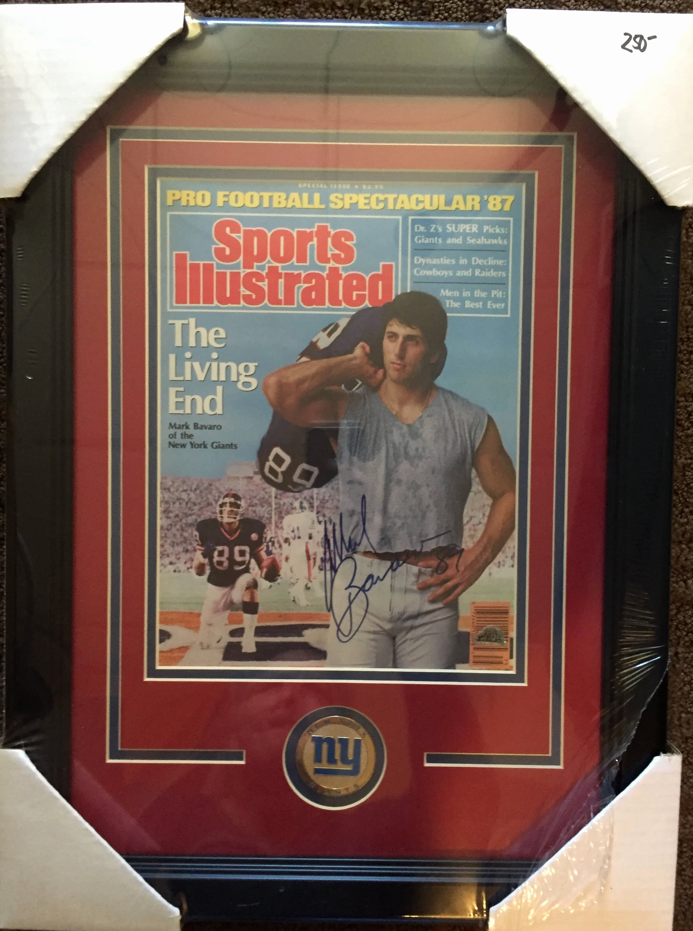 Blank Sports Illustrated Cover Luxury Mark Bavaro Autographed Framed Sports Illustrated Cover