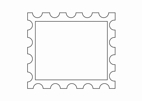 Blank Stamp Template Best Of Printable Postage Stamp Template Clipart Best