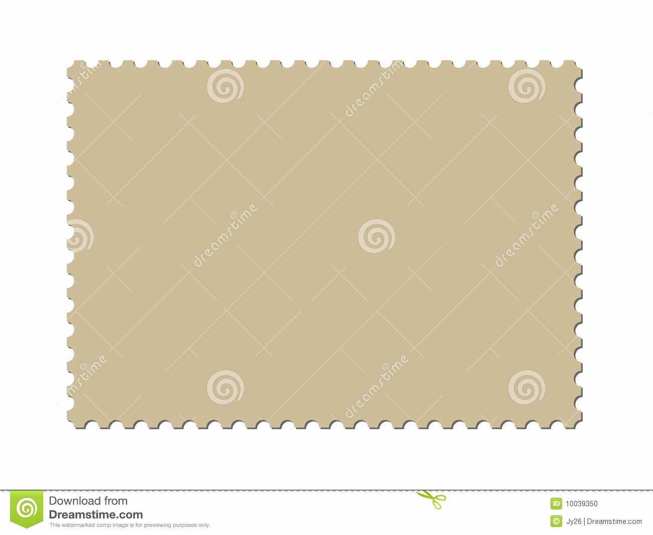Blank Stamp Template Elegant A Blank Postage Stamp Template Vector Included Stock