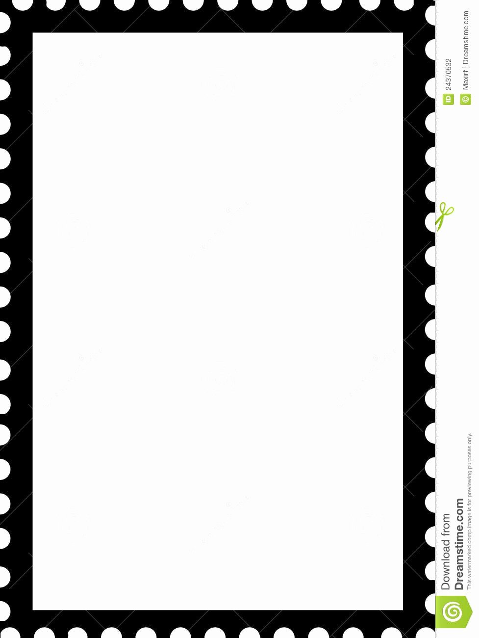 Blank Stamp Template Fresh Blank Open Stamp Portrait Template Black White Stock