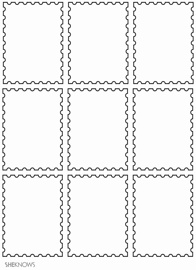 Blank Stamp Template Inspirational 17 Kids Craft Templates Perfect for Any Season Postage