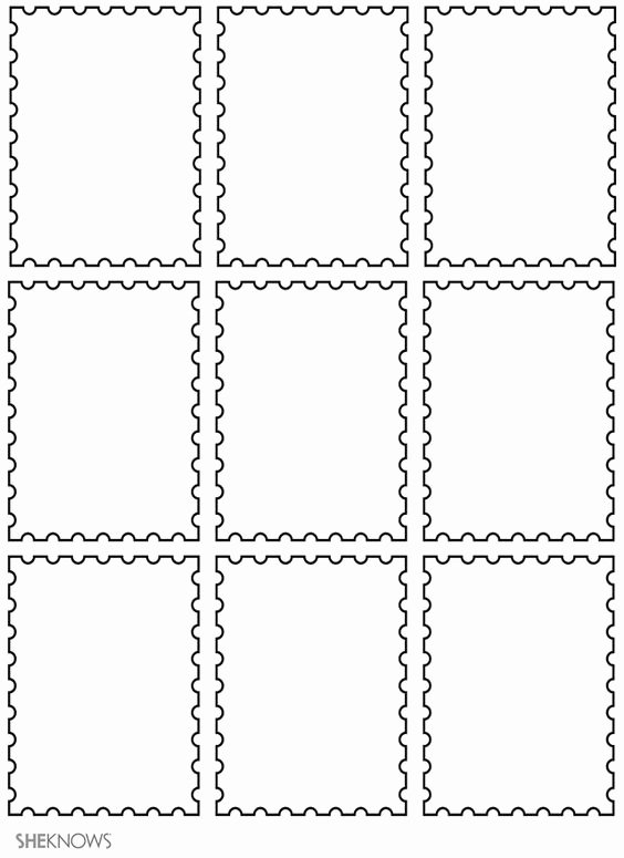 Blank Stamp Template Inspirational Craft Templates for Kids Postage Stamp