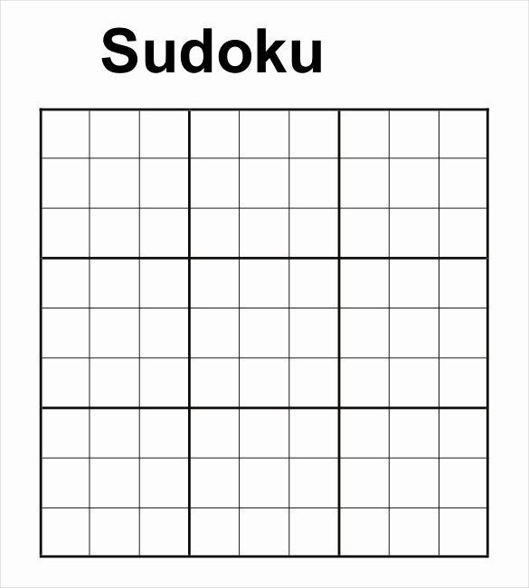 Blank Sudoku Grid Printable Awesome Prinable Sudoku Templates – 15 Free Word Pdf Documents