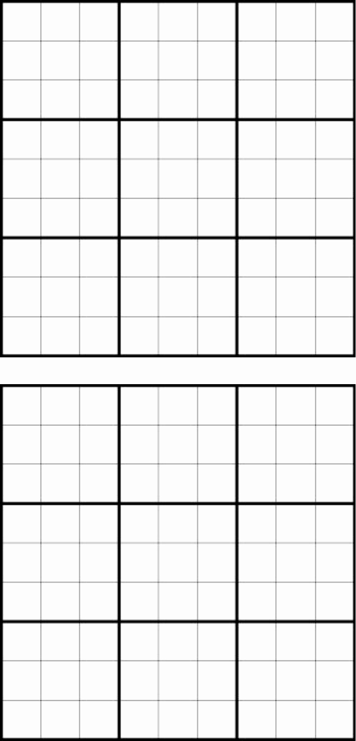 Blank Sudoku Grid Printable Best Of Download Blank Sudoku Grid for Free formtemplate