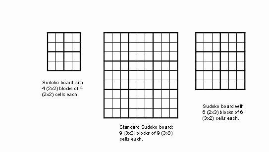 Blank Sudoku Grid Printable Elegant Cs 671 Fall 2005 Homework 2