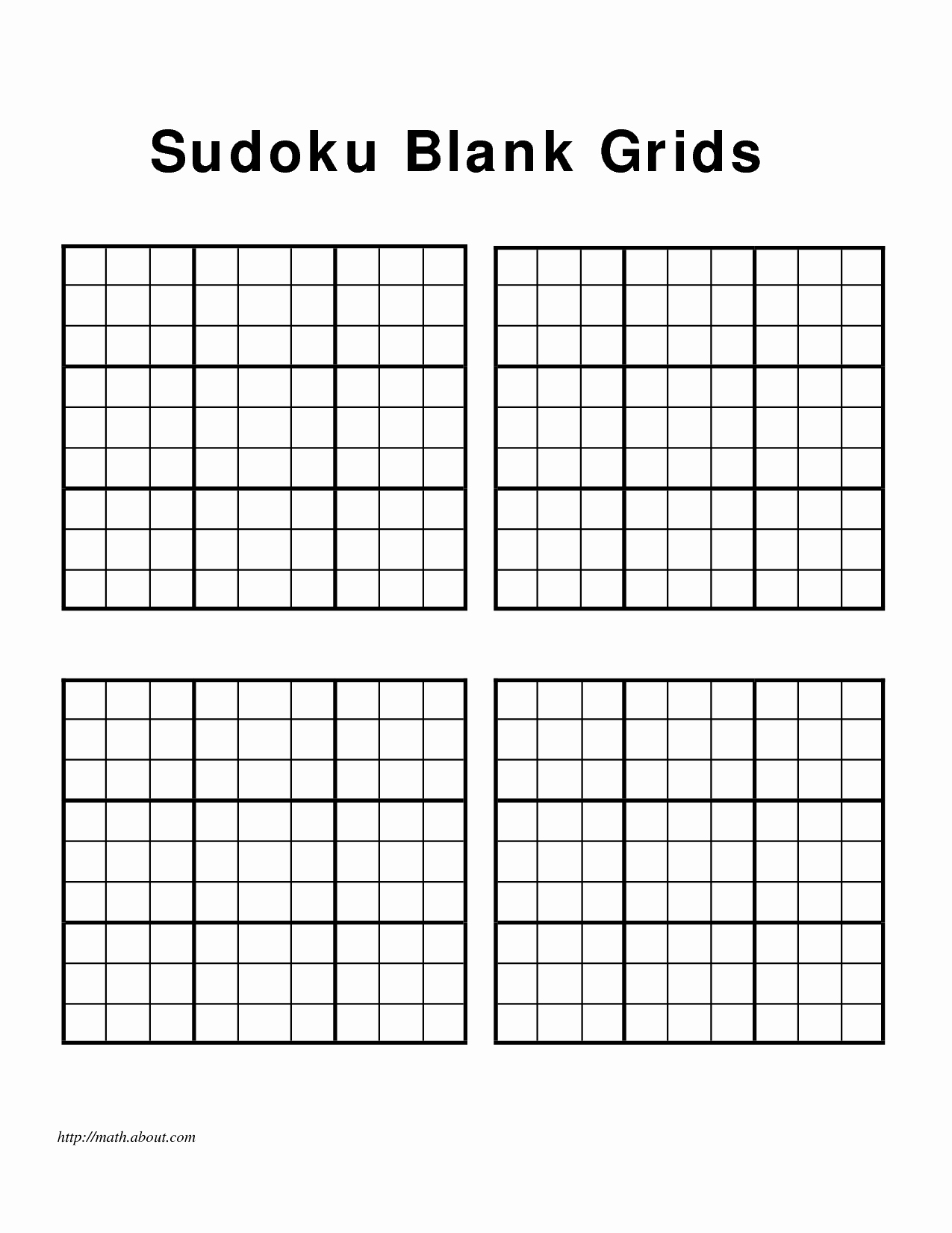 Blank Sudoku Grid Printable Luxury Blank Sudoku form Print