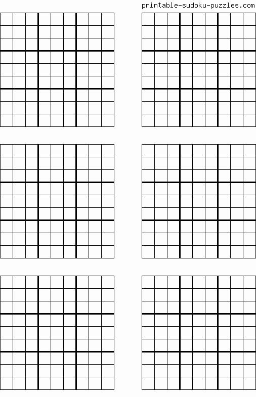 Blank Sudoku Grid Printable Luxury Free Printable Blank Sudoku Grids School