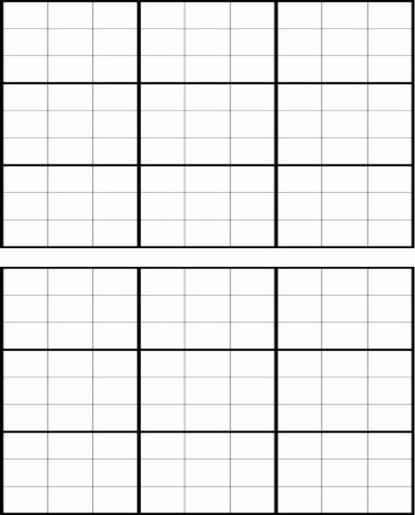 Blank Sudoku Grid Printable New Download Blank Sudoku Grid for Free formtemplate