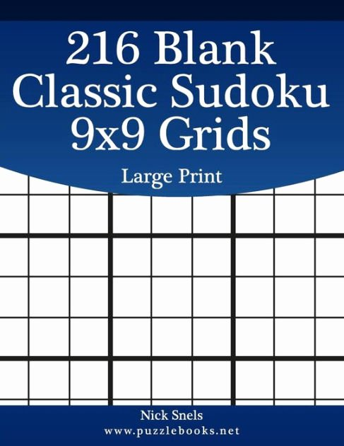 Blank Sudoku Grid Printable Unique 216 Blank Classic Sudoku 9x9 Grids Print by Nick