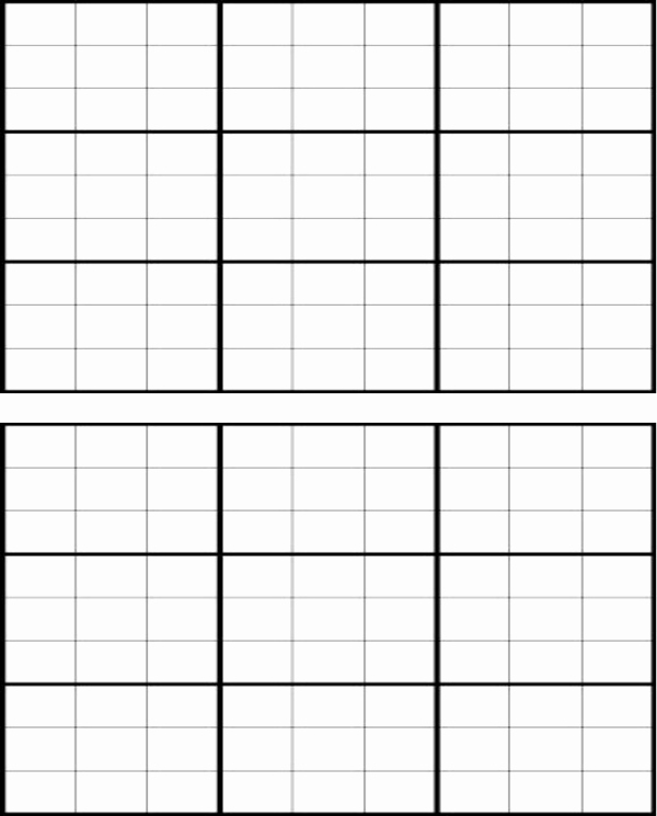 Blank Sudoku Grid Printable Unique Download Blank Sudoku Grid for Free formtemplate