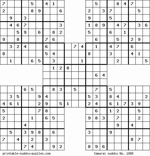 Blank Sudoku Grid Printable Unique Free Printable Samurai Sudoku Puzzles