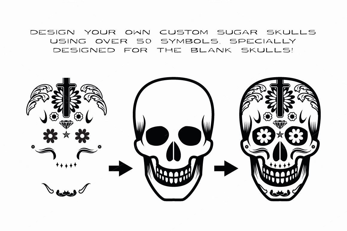 Blank Sugar Skull Template Awesome Dotd 3 O