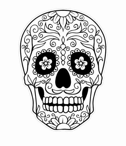 Blank Sugar Skull Template Beautiful Day Of the Dead Skull Coloring Page Enjoy Coloring