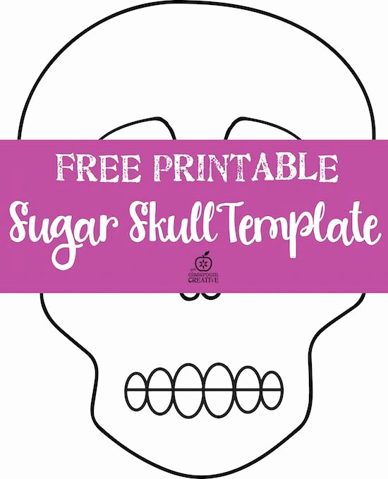 Blank Sugar Skull Template Beautiful Free Printable Day Of the Dead Templates there is A Blank