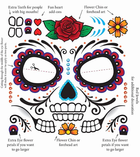 Blank Sugar Skull Template Elegant 1026 Best Images About All Hallows Eve Printables On