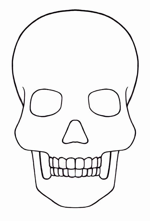 Blank Sugar Skull Template Elegant Skull Template Mini Day Of the Dead Mexico