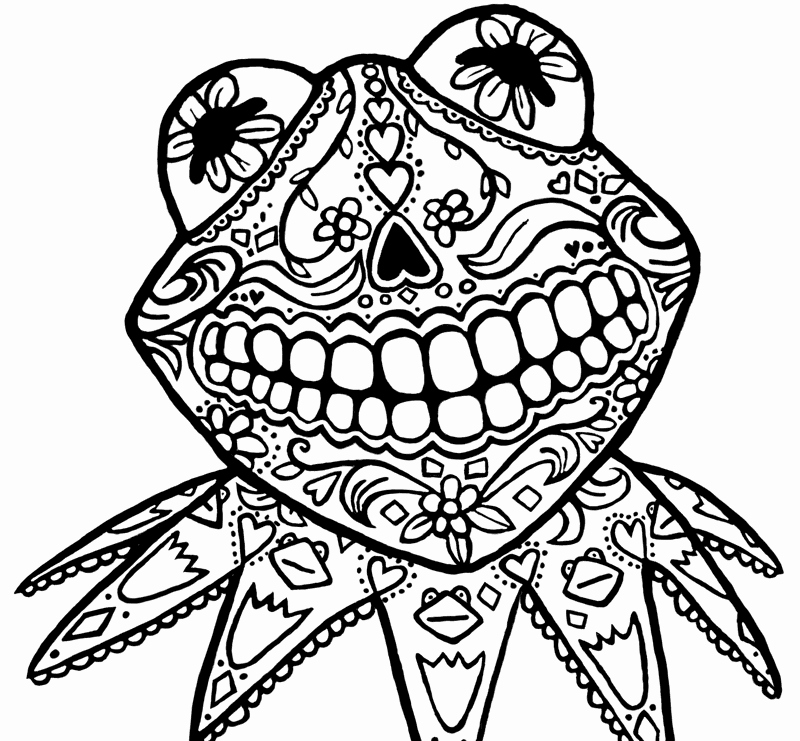 Blank Sugar Skull Template Fresh Blank Adult Coloring Pages Cats Coloring Pages